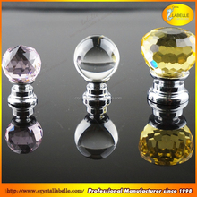 Round Ball Diamond Crystal Cabinet Knob Handle Cupboard Closet Drawer Knob Pull