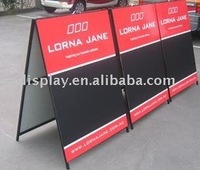 A board A frame pavement sign sidewalk sign advertising board