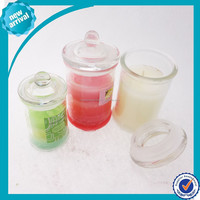 Glass Candle with Cap ---- -