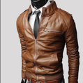 ราคาถูกเป็นที่นิยมทำในประเทศจีนสบายเสื้อหนังสำหรับผู้ชายการาจี