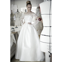 IRYA MYEDRESSHOUSE Online Sale Full Sleeve Lace Wedding Dress Satin Bridal Gown