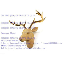 Resina dorata testa di cervo/parete mouned resina dorata cervi testa/dipinto a mano attaccatura moderno in stile occidentale Golden resina cervo testa
