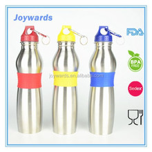 single wall carabiner decorated water bottles with keychain