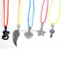 Wholesale Star Heart Key Wing Small Pendant Girls Cheap Necklace