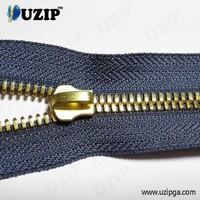 #5 Corn Type Teeth Metal Zipper with Zipper Puller Nonlock