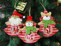 Santa christmas decoration ornament cute colorful candy bag christmas tree ornaments