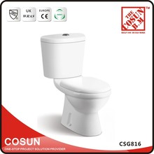 Floor Mounted Ceramic Colored P-Trap Toilet Bowl