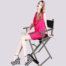 he high-grade silver aluminum makeup chair director chair folding portable makeup chair Director