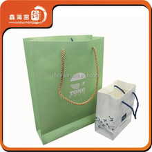 2015 new design shopping paper bag with handle in machine price