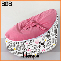 wholesale custom printed baby bean bag chair covers for kids