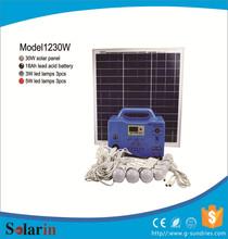 Delicate 30w 18v solar panel in solar system