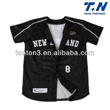 custom sublimation black baseball jersey for men