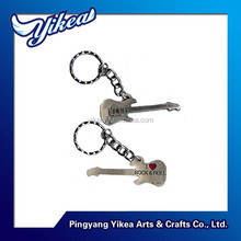 custom metal keychain guitar shaped keychain metal cheap made in china