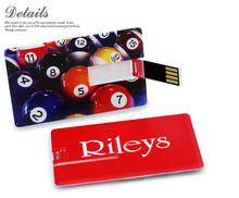 custom full color printing usb card pen drive