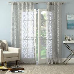 2015 elegant cheap burn out sheer curtain designs