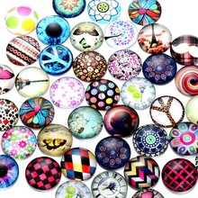 6mm 8mm 10mm Mixed pictures clear round magnifying transparent glass cabochon sticker
