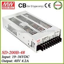 Meanwell SD-200B-48 36v dc to 48v dc converter