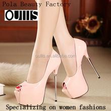 2015 novos modelos de doces cor putent PU plataforma do salto alto sapatos para senhoras sexy 16 CM stiletto peep toe sandálias de salto alto PY3798