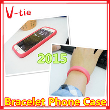 Useful phone accessory/hair band/bracelet flexible silicone phone cover case for nokia xl