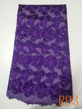 2014 new design fashion organza lace embroidry fabric in china manufacture