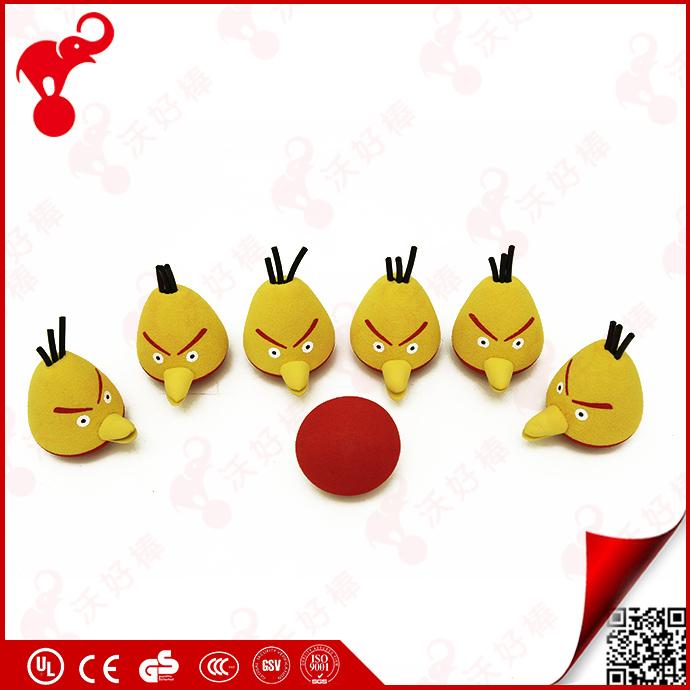 Sinh thái thân thiện NBR foam trong nhà bowling toy set, 6 pins angry mini birds animal bowling bóng