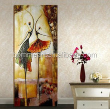 high quality large hand painted modern abstract canvas picture ballet dancers oil picture hallway entrance decoration art