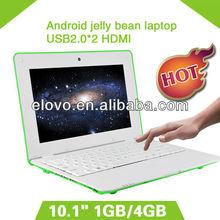 Mejor venta de 10.1 pulgadas android mini via8850 del ordenador portátil con wifi hdmi de la cámara