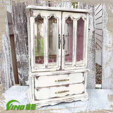 Shabby Chic Wood Jewelry Display Store Display Cases Jewelry Shop showcase Design Jewelry Cabinet
