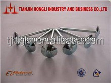 Widely use Galvanized umbrella head roofing nails with smooth/twist shank manufacturer