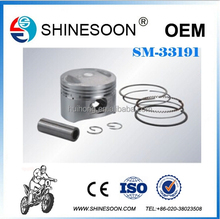 Most popular motorcycle ZS125 piston with top quality, piston ring for motorcycle