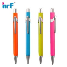 Bright color simple metal ball point pen