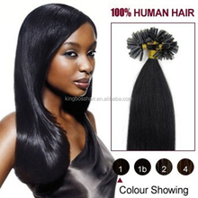 top quality cheap price 100% human indian hair U tip hair from hong kong