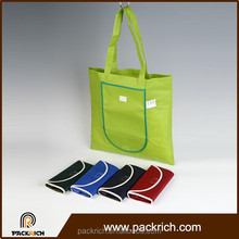 Custom eco-friendly fabric cheap foldable shopping non woven bag
