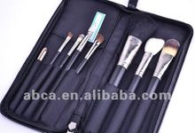 8pcs cosmetic brush sets with pu bag for personal