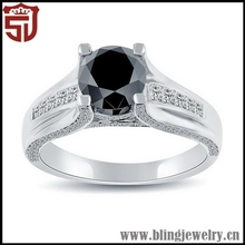Branded Updated Smooth Curve Design Silver Poesy Rings