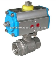stainless steel pneumatic female thread two piece ball valve