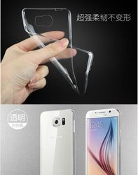 For samsung galaxy s6 clear tpu case Crystal Clear Transparent Soft Silicon 0.3mm TPU Case for S6 Cases Cover for S6