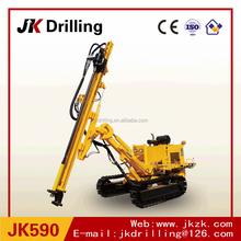 JK590 Crawler Hydraulic Quarry Blast Hole DTH Drilling Rig for sale