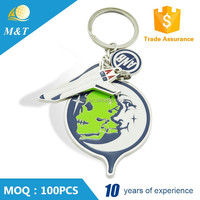 Cheap custom soft enamel metal coin keychain
