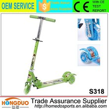 Green scootera 3 wheels folding skate scooter with cheap sell