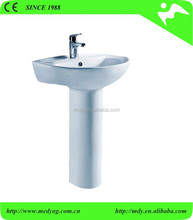 oval shape white color vitreous china bath wash basin