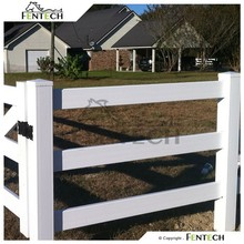 High Quality Made in China Fentech Hot Sale 3 Rail Used Fencing for Horse