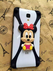 Promotion gift Cartoon Silicon bumper frame phone case compatible with all phones under 6inch
