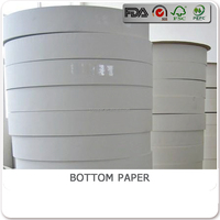 BLY-B74 pe coated paper roll for bottom paper