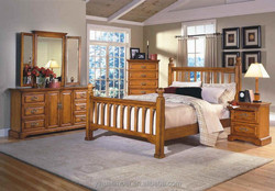 The latest design comfortable wooden bedroom furniture