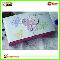 custom fancy apple pie/cookie/egg tart packaging box with butterfly pattern for single/doublecups hot sale in us