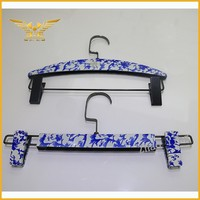 Classical china hanger porcelain painted trouser hanger with clip