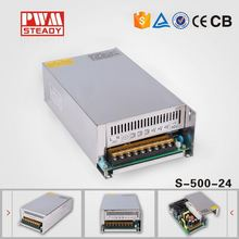 High Reliable 500W Single output 24v switch mode power supply voltage oem
