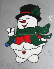 Cute snowman jelly stickers for window/wall/doo/car decoration