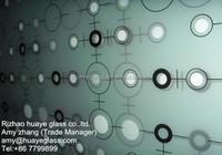 High Quality 4mm 6mm 8mm 10mm 12mm 14mm 15mm 19mm tempered Silkscreen Printed Glass Panel for table tops